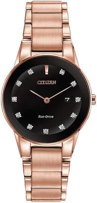 Citizen Eco-Drive Axiom Womens Diamond-Accent Bracelet Watch GA1058-59Q