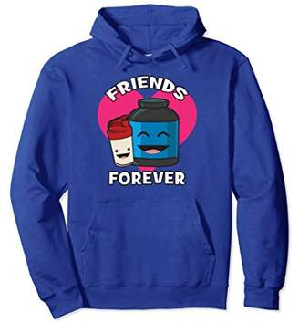 Friends Forever - Kawaii Protein Shake - Novelty Gym Hoodie