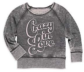 Rowdy Sprout Baby's Girl's & Little Girl's Crazy In Love Burnout Sweatshirt