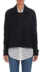 Mayle Maison Women's Matilde Stretch-Wool Twill Swing Jacket - Black