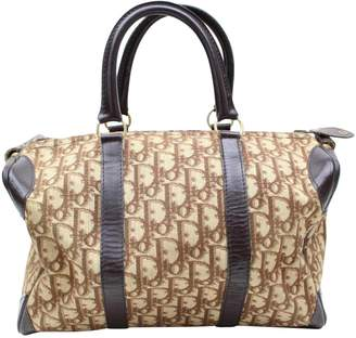 Christian Dior Vintage Beige Cloth Handbag