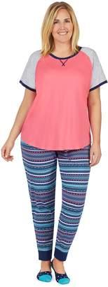 Cuddl Duds Plus Size Graphic Tee & Jogger Pajama Set