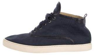 Hermes Leather-Trimmed Canvas Sneakers