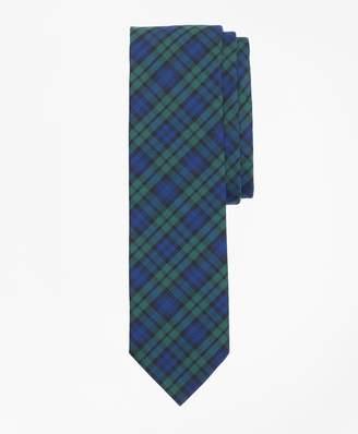 Brooks Brothers Black Watch Tartan Basketweave Tie