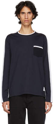Thom Browne Navy and Red Crewneck Sweater