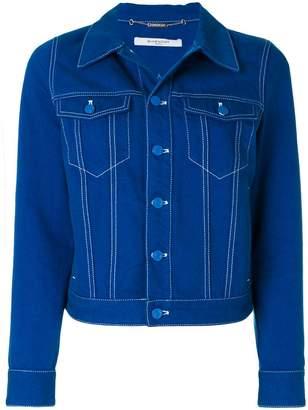 star patch denim jacket