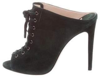 Miu Miu Lace-Up Slide Sandals