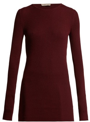 Bottega Veneta Ribbed Cashmere Sweater - Womens - Burgundy