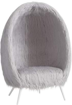 Pottery Barn Teen Himalayan Gray Faux-Fur Cave Chair