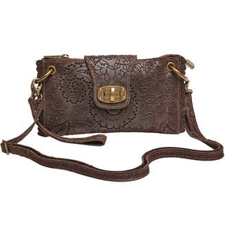 Joe Browns Brown Paradiso Embossed Leather Bag