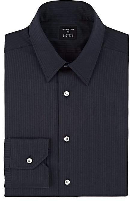 John Vizzone Men's Striped Cotton-Blend Dress Shirt