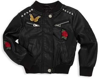 Urban Republic Baby Girl's Baseball Patches Jacket