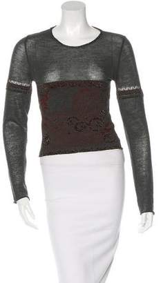 Dries Van Noten Wool-Blend Cropped Sweater