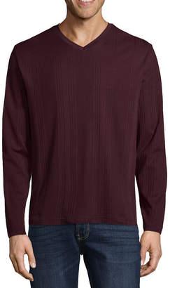 Claiborne Long Sleeve V Neck T-Shirt