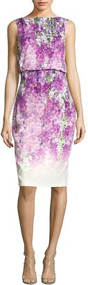Badgley Mischka Women's Printed Sleeveless Dress
