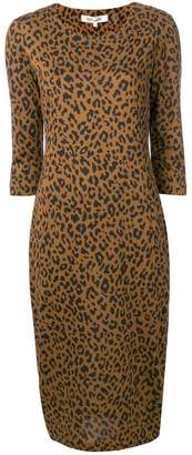 Diane von Furstenberg leopard print shift dress
