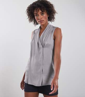 Reiss ELVIE SLEEVELESS BLOUSE Stonewash