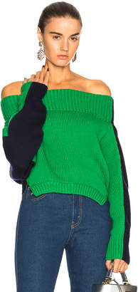 Monse Upside Down Cropped Sweater