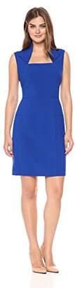 Lark & Ro Women's Sleeveless Envelope Collar Sheath Dress