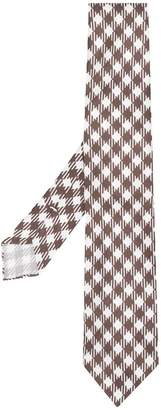 Kiton checkered knitted tie