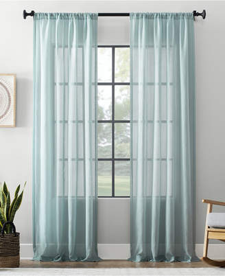 "Archaeo Textured Cotton Blend Sheer Curtain, 54"" W x 84"" L"