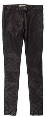 Preen Line Leather Skinny Pants