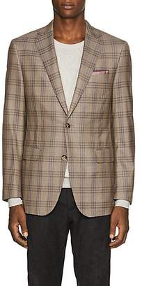 Pal Zileri MEN'S CHECKED WOOL TWO-BUTTON SPORTCOAT - BEIGE/TAN SIZE 40 R