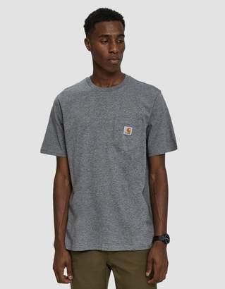 Carhartt Wip S/S Pocket T-Shirt in Dark Grey Heather
