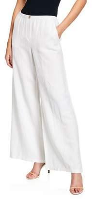 Nic+Zoe Plus Size Refreshed Wide-Leg Linen Pants