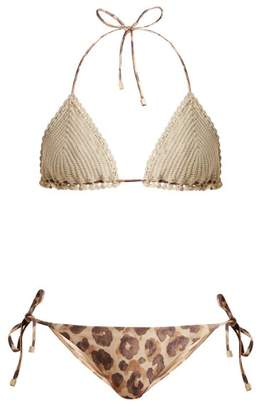 Zimmermann Melody Crochet Bikini Set - Womens - White Multi