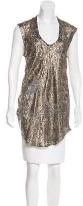 Isabel Marant Sleeveless Metallic Top