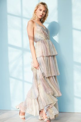 Kimchi Blue Tiers Of The Ocean Maxi Dress $259 thestylecure.com