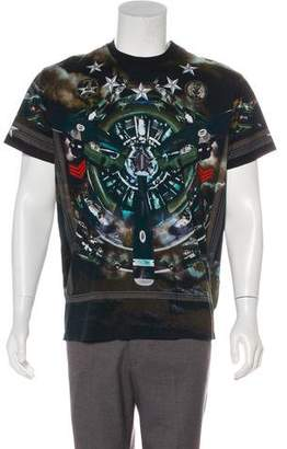 Givenchy Star & Number Fighter Plane T-Shirt