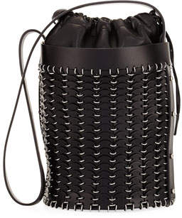Paco Rabanne 1401 Drawstring Chain-Link Bucket Bag