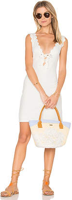 Marysia Swim Amagansett Tie Dress in White $363 thestylecure.com