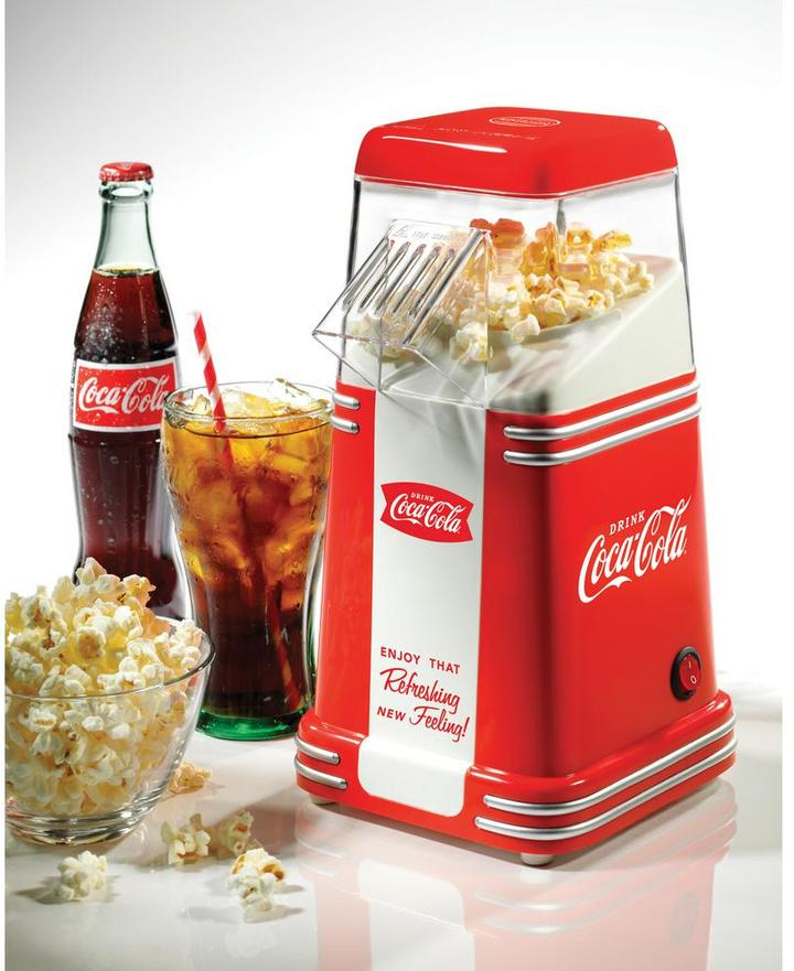 Nostalgia Coca-Cola Series Mini Hot Air Popcorn Popper