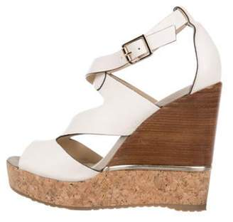 Jimmy Choo Caged Platform Wedges Caged Platform Wedges