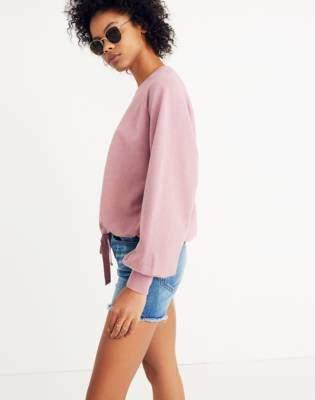 Madewell Bubble-Sleeve Drawstring Sweatshirt