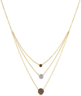 LeVian Le Vian Vanilla Diamonds (1/10 ct. t.w.) and Chocolate Diamonds (1/4 ct. t.w.) Necklace in 14k Gold