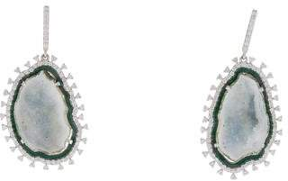 Amrapali 18K Druzy & Diamond Drop Earrings