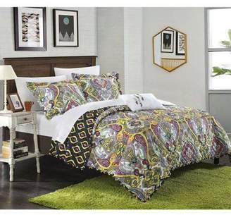 Chic Home Paisley Global Inspi 8-Piece Veleda Reversible Quilt Set