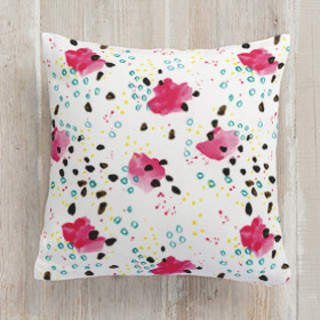Dotted Abstract Square Pillow