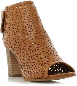 Dune London WEKESA - TAN Laser Cut Foot Coverage Sandal