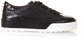 Hogan Black Rebel 320 Sneakers In Leather