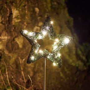 Auffälliger Blumenstecker Garden Star LED 16 cm