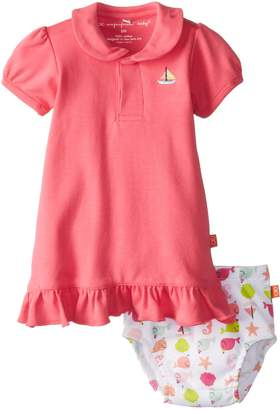 Magnificent Baby Girls Newborn Polo Dress with Diaper Cover
