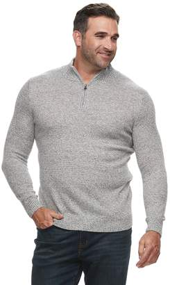 Croft & Barrow Big & Tall Classic-Fit 7GG Super Soft Quarter-Zip Pullover Sweater