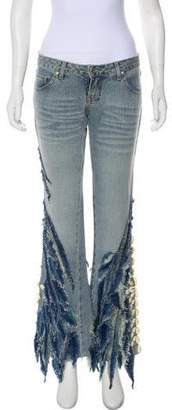 Carlos Miele Embellished Low-Rise Jeans