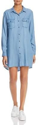 Billy T Chambray Ruffle Back Shirt Dress