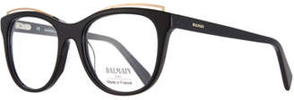Balmain Modified Cat-Eye Acetate Optical Frames